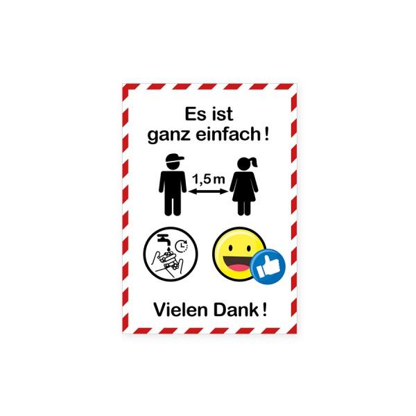"""infektionsschutz-bayern Kids Tischaufsteller DINA4 """"Es ist ganz einfach!"""""""