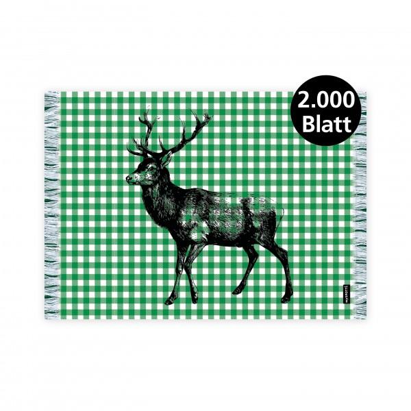 "infektionsschutz-bayern Papiertischset ""Hirsch grün"""