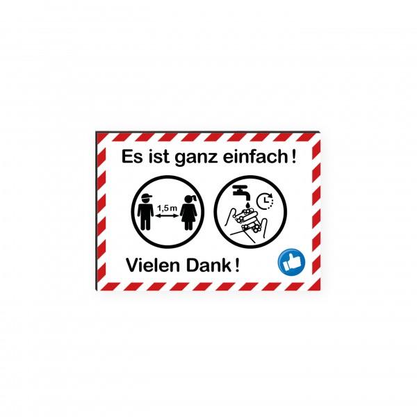 """infektionsschutz-bayern Kids Schild/Hinweistafel DINA4 """"Es ist ganz einfach!"""""""