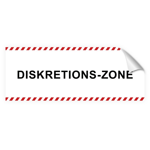 """infektionsschutz-bayern Sichtschutz-Aufkleber 130 x 50 cm Selbstklebefolie matt """"Diskretions-Zone"""""""