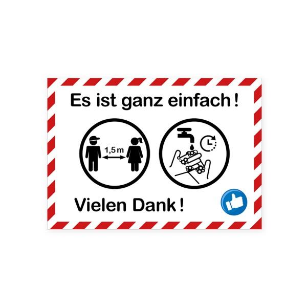 """infektionsschutz-bayern Aufkleber DINA4 """"Es ist ganz einfach!"""""""