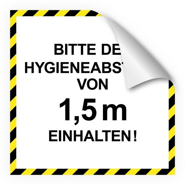 """infektionsschutz-bayern Bodenaufkleber/Antirutschaufkleber Indoor """"Bitte den Hygieneabstand von 1,5 m einhalten!"""""""
