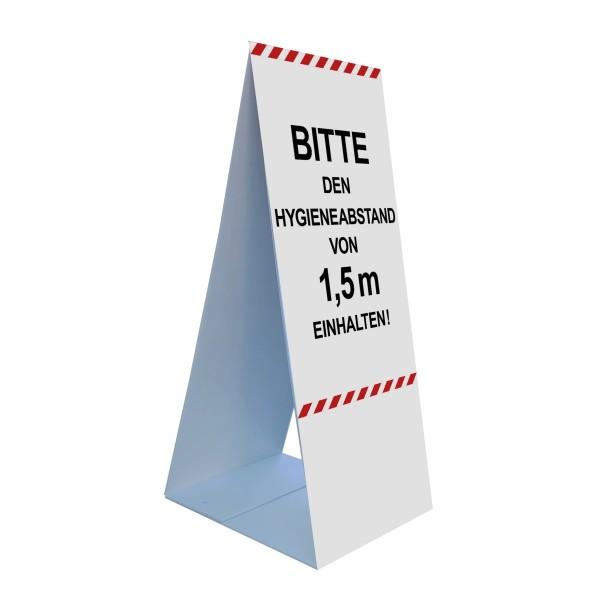 """infektionsschutz-bayern Bodenaufsteller 45 x 105 cm """"Bitte den Hygieneabstand von 1,5 m einhalten!"""""""