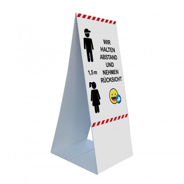 """infektionsschutz-bayern Kids Bodenaufsteller 45 x 105 cm """"Abstand halten, Rücksicht nehmen"""""""
