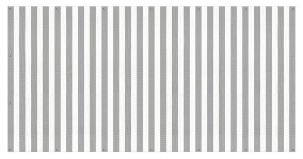 """infektionsschutz-bayern Sichtschutz-Banner 340 x 172 cm Mesh-Material, mit Ösen alle 50 cm """"Streifen grau-weiss"""""""