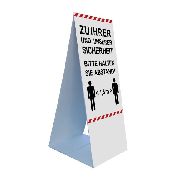 """inefktionsschutz-bayern Bodenaufsteller 45 x 105 cm """"Zu Ihrer und unserer Sicherheit ..."""""""