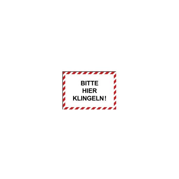 """infektionsschutz-bayern Schild/Hinweistafel DINA4 """"Bitte hier klingeln!"""""""