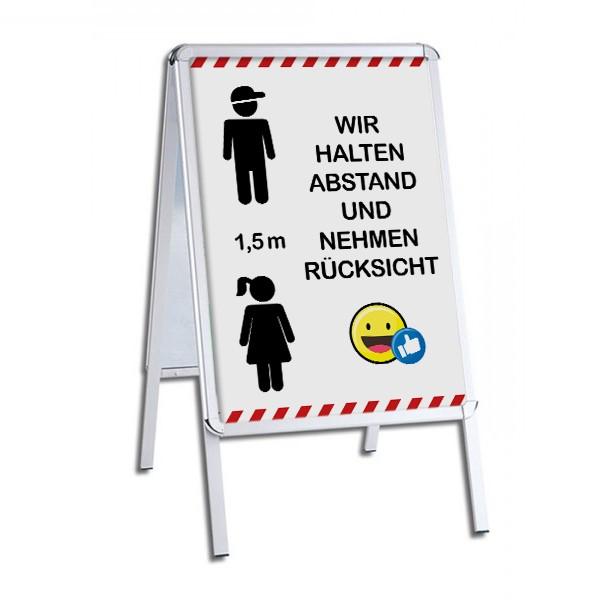 """infektionsschutz-bayern Kinderstopper """"Wir halten Abstand und nehmen Rücksicht!"""""""