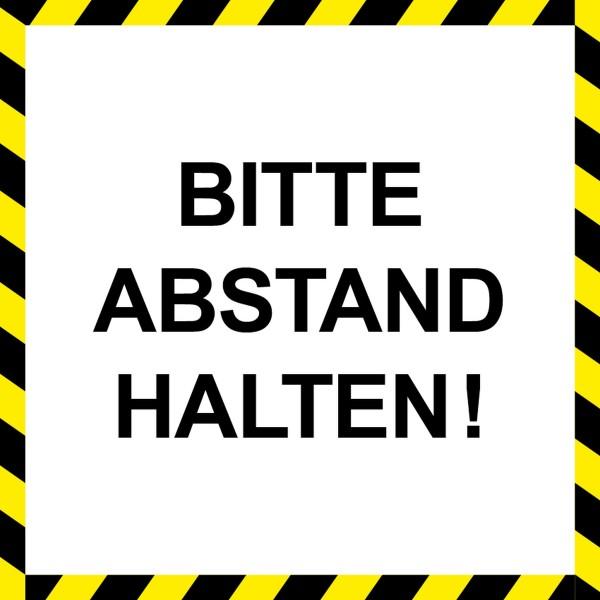 """infektionsschutz-bayern Bodenaufkleber/Antirutschaufkleber Indoor """"Bitte Abstand halten!"""""""