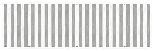 """infektionsschutz-bayern Sichtschutz-Banner 300 x 90 cm Mesh-Material, mit Ösen alle 50 cm """"Streifen grau-weiss"""""""