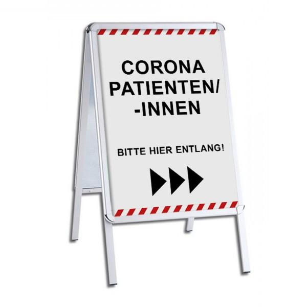 """infektionsschutz-bayernKundenstopper / Patientenstopper """"Corona Patienten/-Innen, Bitte hier entlang!"""" - rechts/links"""