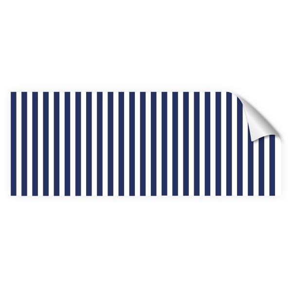 """infektionsschutz-bayern Sichtschutz-Aufkleber 130 x 50 cm Selbstklebefolie matt """"Streifen blau-weiss"""""""