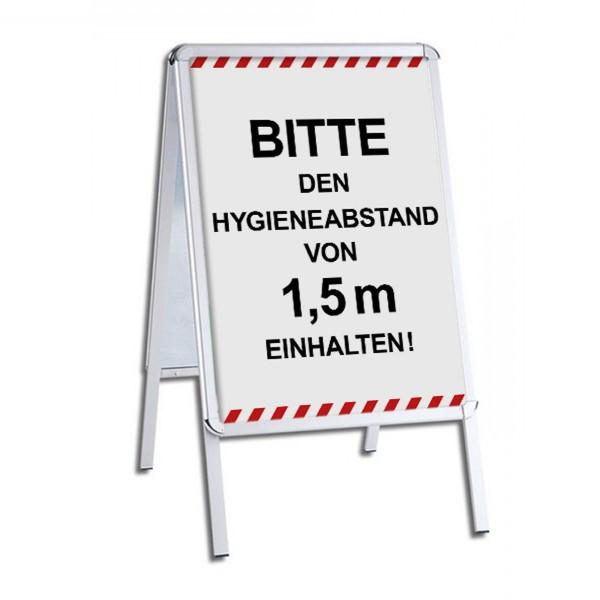 """infektionsschutz-bayern Kundenstopper / Patientenstopper """"Bitte den Hygieneabstand von 2 m einhalten!"""""""