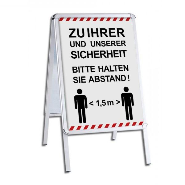 """infektionsschutz-bayern Kundenstopper / Patientenstopper """"Zu Ihrer und unserer Sicherheit - Bitte halten Sie Abstand!"""""""