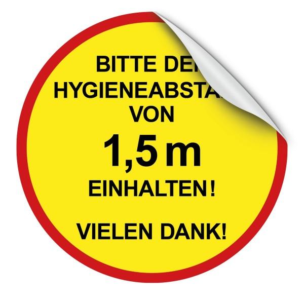 """infektionsschutz-bayern Bodenaufkleber/Antirutschaufkleber Indoor 50 cm rund """"Bitte Hygieneabstand 1,5 m"""""""
