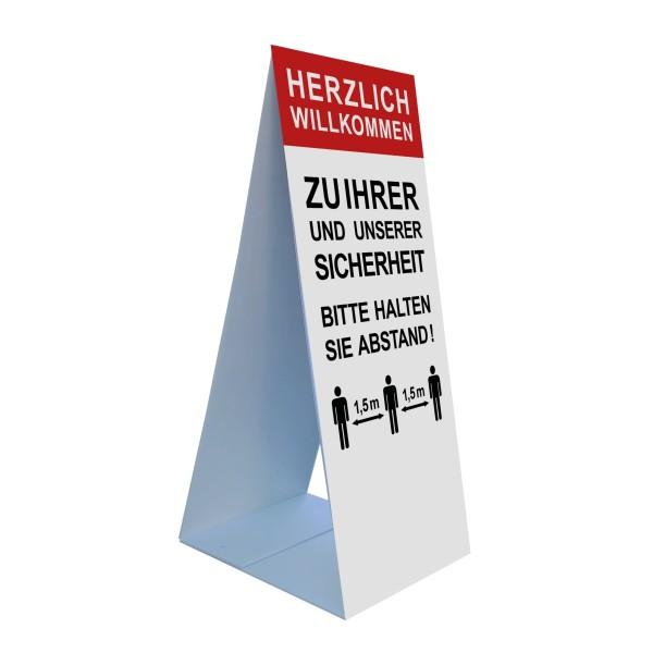 """infektionsschutz-bayern Bodenaufsteller 45 x 105 cm """"Herzlich Willkommen zu Ihrer und unserer Sicherheit ..."""""""