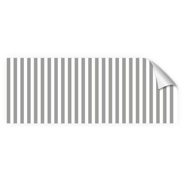 """infektionsschutz-bayern Sichtschutz-Aufkleber 130 x 50 cm Selbstklebefolie matt """"Streifen grau-weiss"""""""