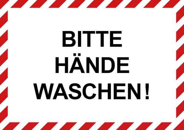 """infektionsschutz-bayern Aufkleber DINA4 Selbstklebefolie matt """"Bitte die Hände waschen!"""""""