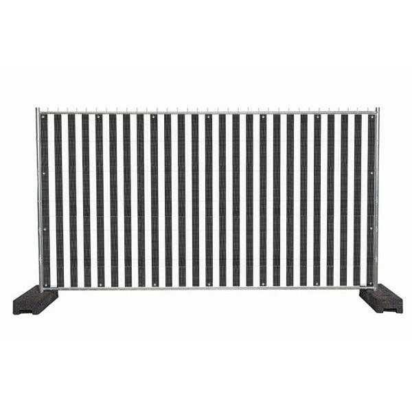"""infektionsschutz-bayern Sichtschutz-Banner 340 x 172 cm Mesh-Material, mit Ösen alle 50 cm """"Streifen schwarz-weiss"""""""