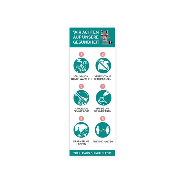 """infektionsschutz-bayern Aufkleber 10,5x29,7cm """"Wir achten auf unsere Gesundheit"""""""