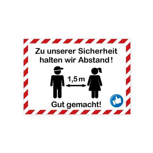 """infektionsschutz-bayern Aufkleber DINA4 """"Zu unserer Sicherheit! ..."""""""