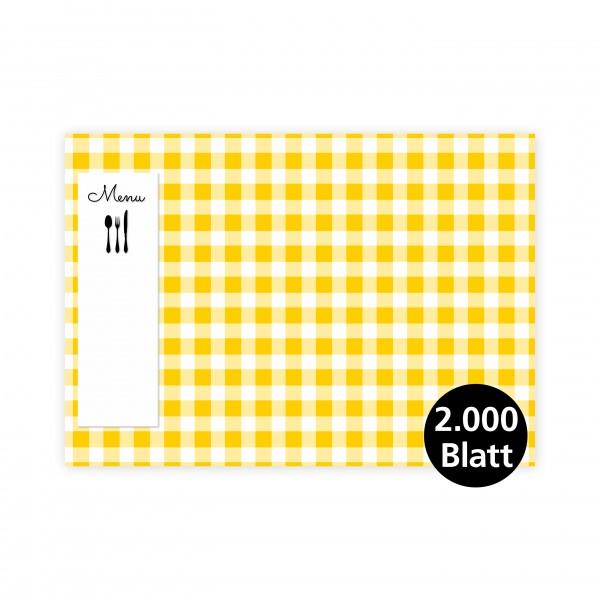 """infektionsschutz-bayern Papiertischset """"Menü gelb"""""""