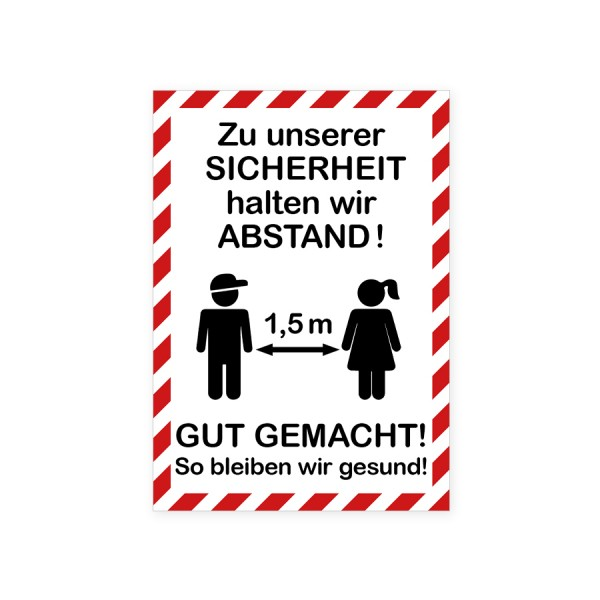 """infektionsschutz-bayern Aufkleber DINA4 Hochformat """"Zu unserer Sicherheit! ..."""""""