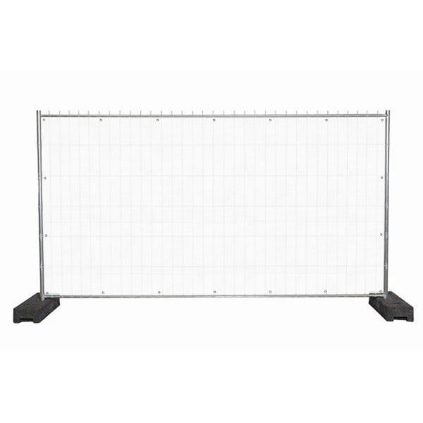 """infektionsschutz-bayern Sichtschutz-Banner 340 x 172 cm Mesh-Material, mit Ösen alle 50 cm """"Uni-Weiss"""""""