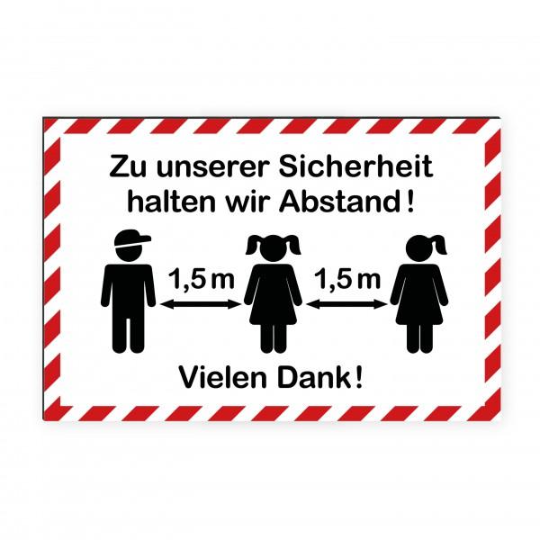 """infektionsschutz-bayern Kids Schild/Hinweistafel 60x40 cm """"Zu unserer Sicherheit halten wir Abstand! Vielen Dank!"""""""